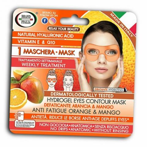 Brand Italia Αντιγηραντική μάσκα ματιών με πορτοκάλι και μάνγκο 1τμχ
